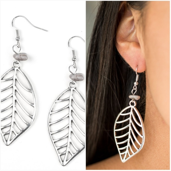 paparazzi Jewelry - BOUGH OUT SILVER EARRINGS